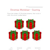christmas counting to five