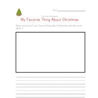 christmas favorite thing worksheet