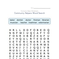 Worksheet Community Helpers Worksheets community helpers word search all kids network