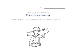 construction worker worksheet