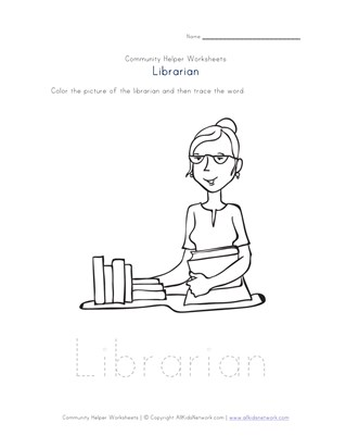 librarian worksheet