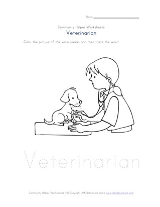 veterinarian worksheet