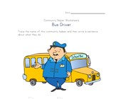 what a bus driver does worksheet