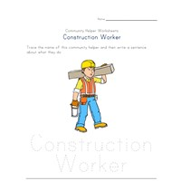 what a construction worker does worksheet