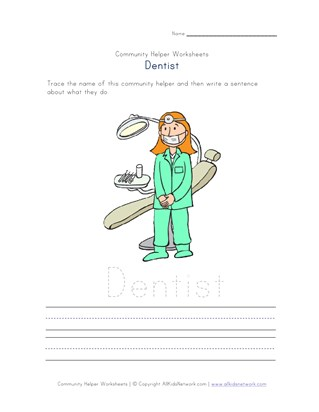 what a dentist does worksheet