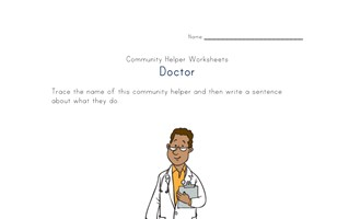 what a doctor does worksheet