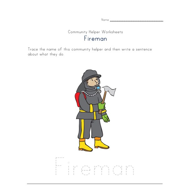 what a fireman does worksheet