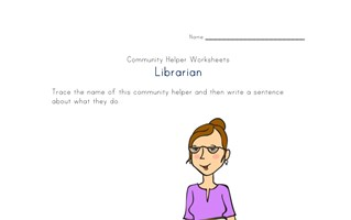 what a librarian does worksheet