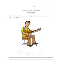 what a musician does worksheet
