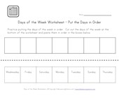days worksheet