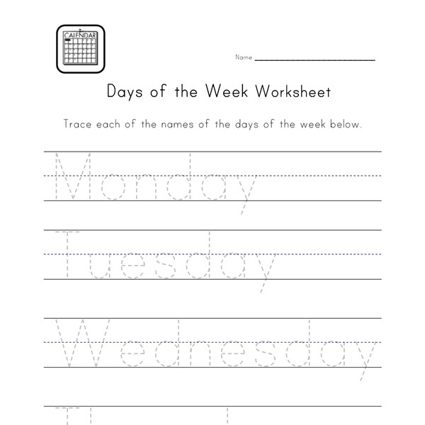 Days of the week worksheet ks1 tes
