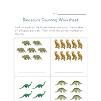 Printables Counting Practice Worksheets dinosaurs counting practice worksheet all kids network