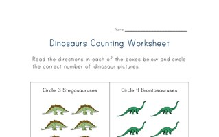 counting dinosaurs worksheet