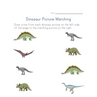 matching dinosaurs worksheet