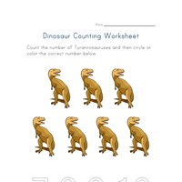 seven t-rexs worksheet