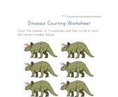 six triceratops worksheet