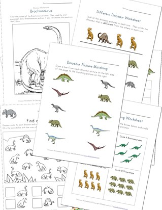 Dinosaurs Worksheets
