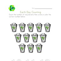 earth day count twelve worksheet