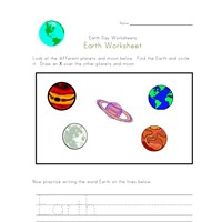 earth worksheet