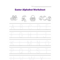 Easter alphabet worksheet