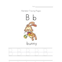 easter letter b worksheet