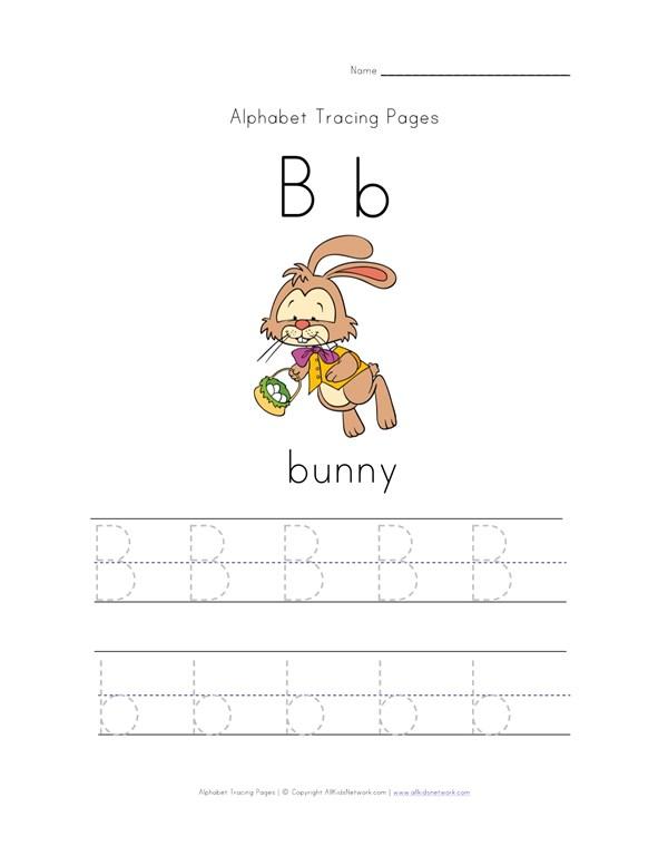 Bunny Letter   Easter Bunny Letter B Worksheet All Kids Network