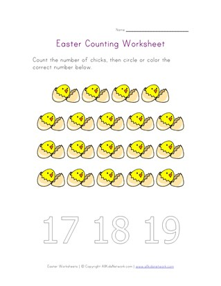 easter counting nineteen