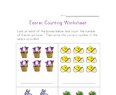 easter counting practice