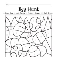 Easter Egg Hunt Color by Shapes
