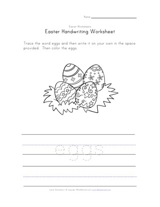 Easter eggs worksheet