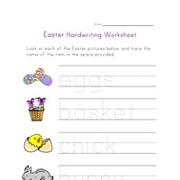 easter worksheet handwriting