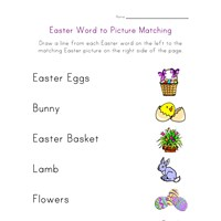 easter matching worksheet