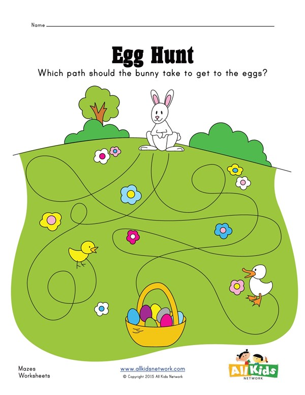 photo about Easter Maze Printable titled Easter Maze All Young children Community