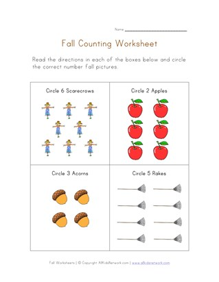 counting fall worksheet
