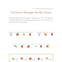 autumn secret word puzzle