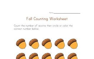 fall counting to fifteen