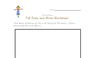 fall draw and write worksheet