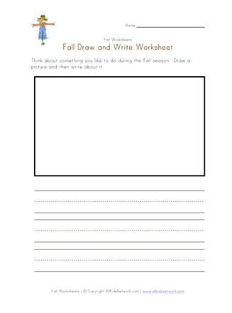 Fall Draw and Write Worksheet | All Kids Network