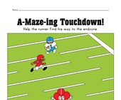 Fall Football Maze