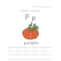 letter p pumpkin fall worksheet