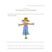 scarecrow handwriting practice worksheet
