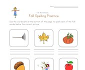 fall spelling worksheet