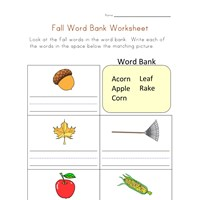 Worksheets Word Bank Worksheet fall word bank worksheet all kids network
