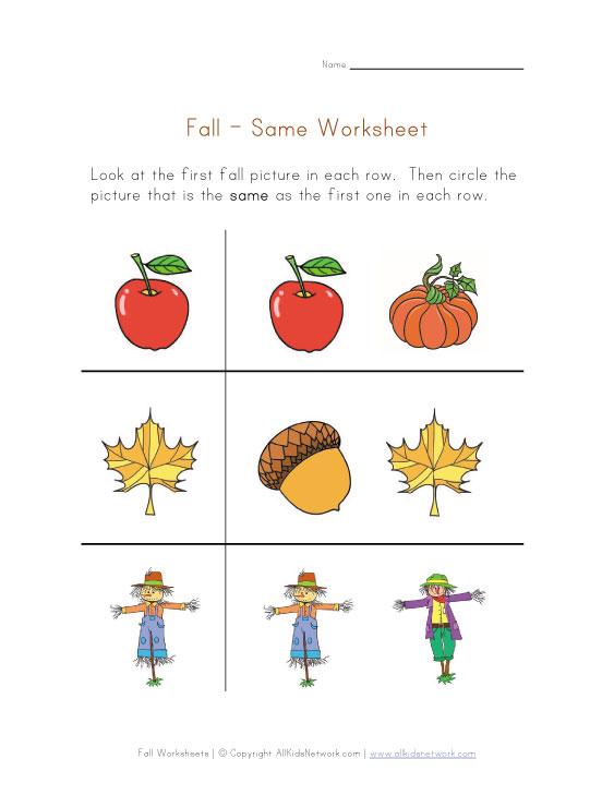Number Names Worksheets fall worksheets : fall worksheets for preschool ~ Irade.co