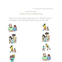 family matching worksheet