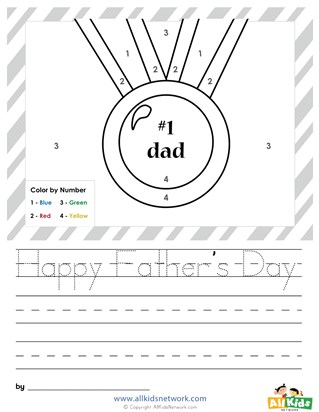 Father's Day Color by Numbers
