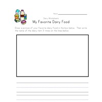 dairy food worksheet