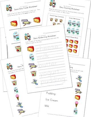dairy worksheets