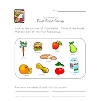 Worksheets Food Groups Worksheets food groups worksheets all kids network