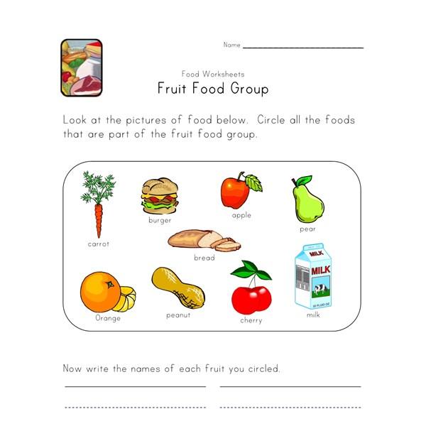 fruit food group worksheet all kids network. Black Bedroom Furniture Sets. Home Design Ideas